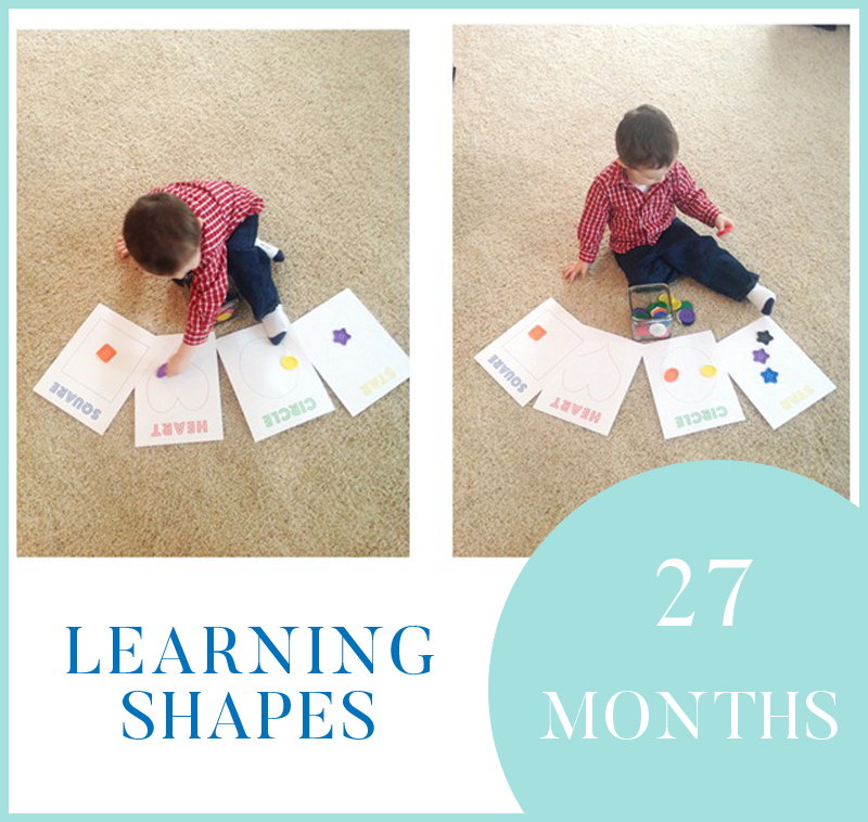 Learning Shapes - Sorting Buttons