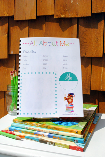 Free printable preschool workbook
