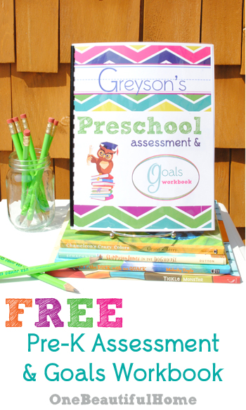 Free Printable Preschool Assessment & Goals Workbook!! » One ...