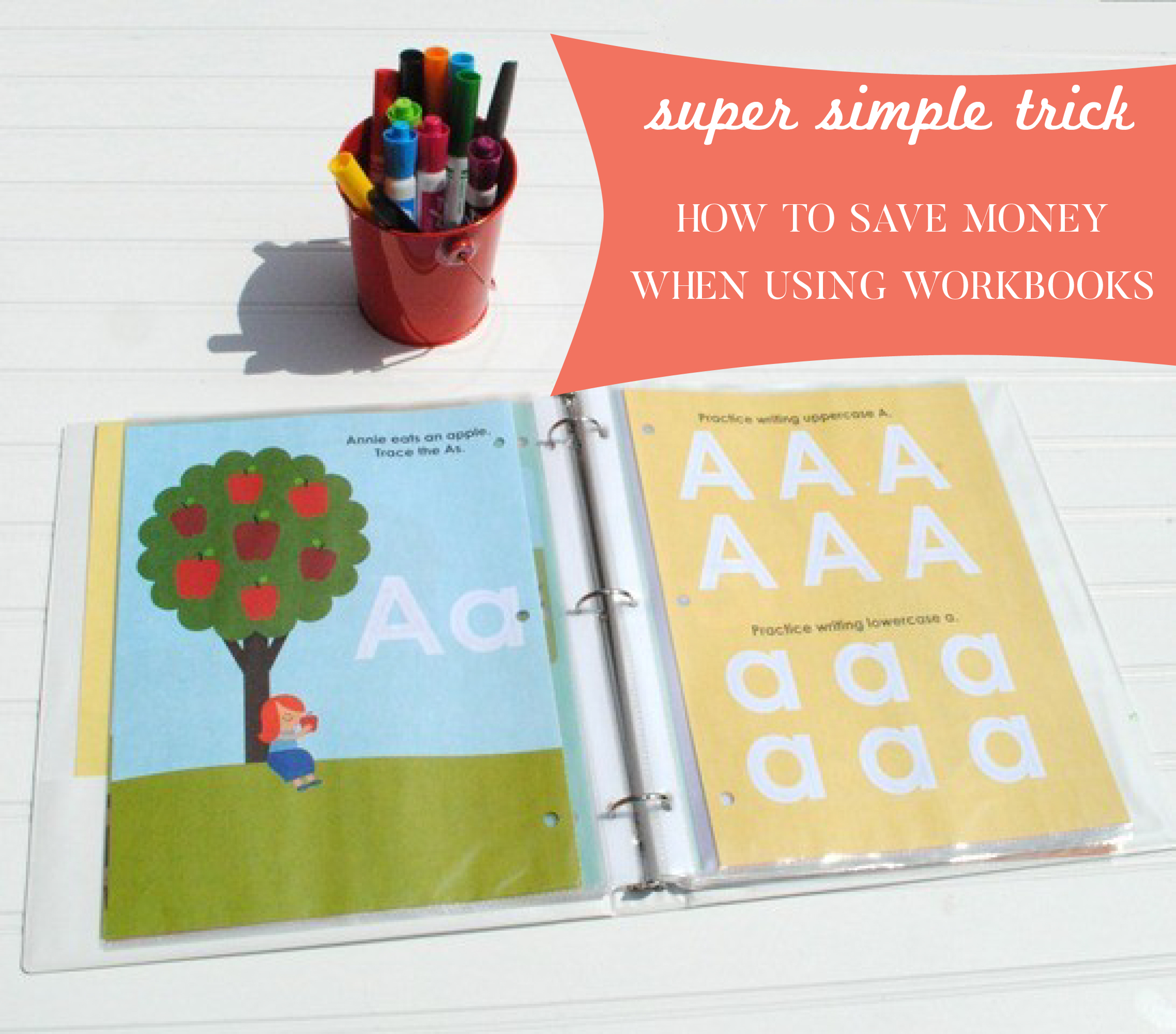 Use this super simple trick to save money when using a workbook!