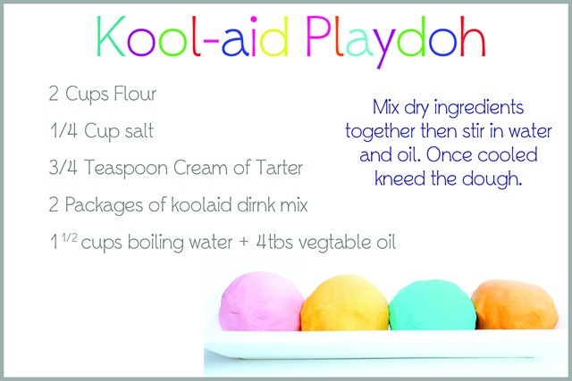 Koolaid Playdoh Recipe Card