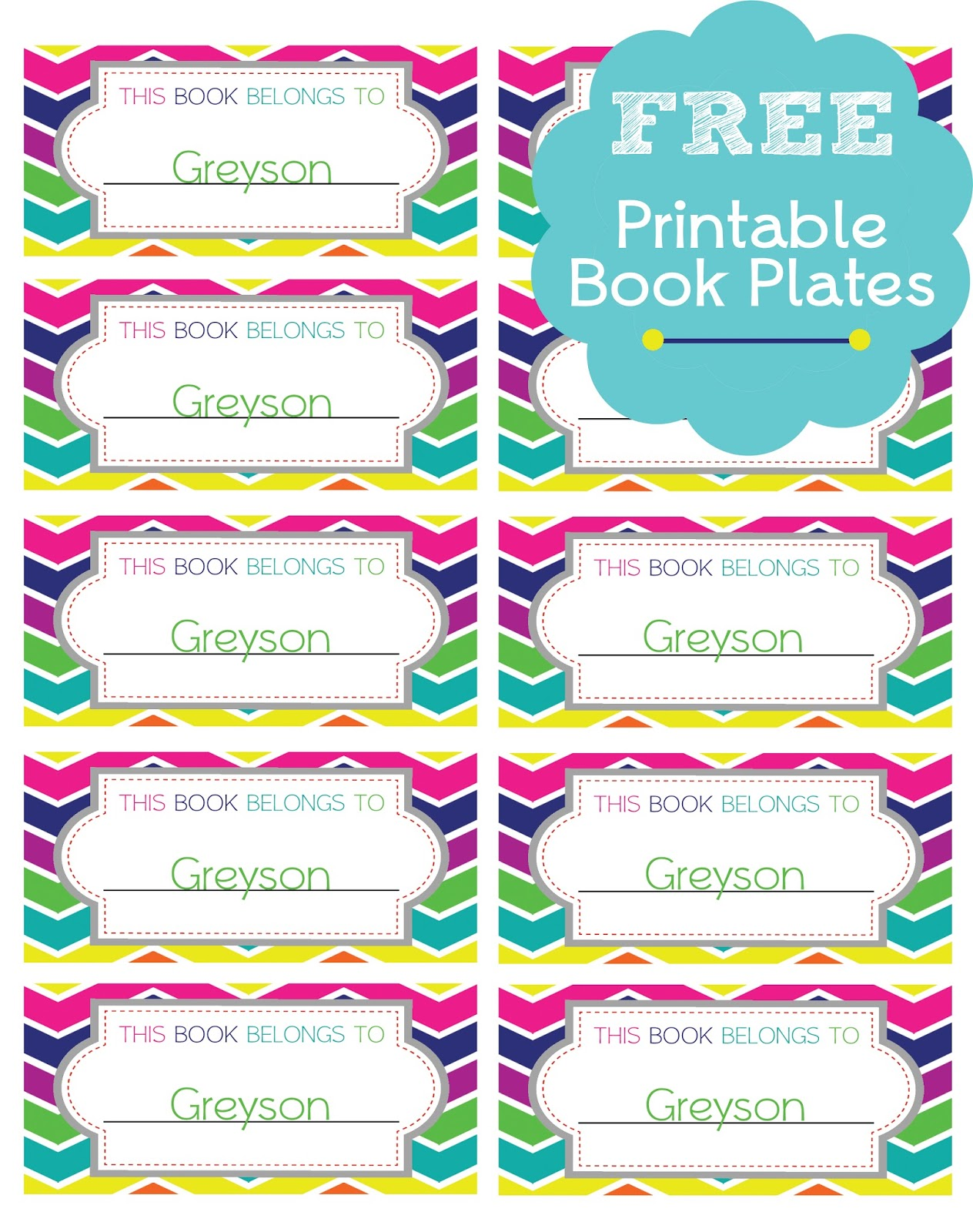 picture regarding Free Printable Bookplates for Adults identified as Free of charge Guide Plate Printables. » Just one Desirable Property