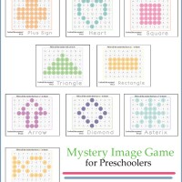 Your preschooler will love this Mystery Image Game!! They will be learning / reviewing their numbers and shapes without even knowing it!