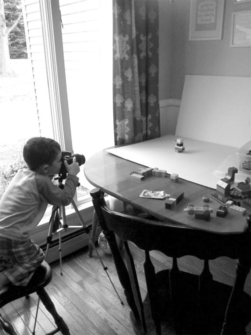 Greyson taking Photos