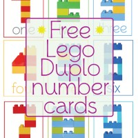 Lego Duplo Number Cards