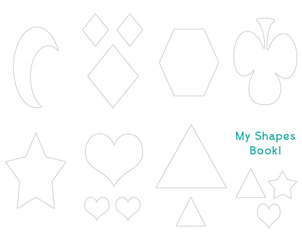 Just Color Shapes Booklet Printable » One Beautiful Home