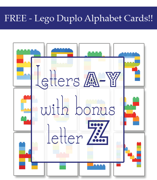 photo relating to Printable Letter Cards named Lego Duplo Alphabet Playing cards » Just one Attractive Dwelling