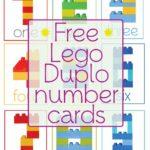 Lego Duplo Number Cards