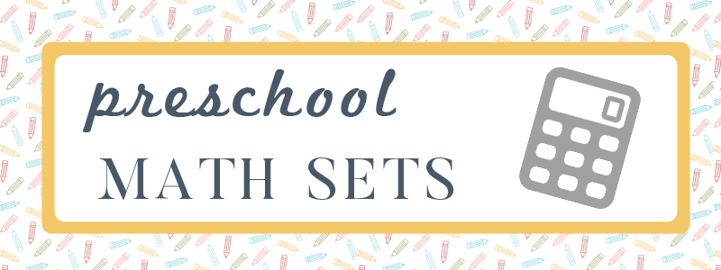 Preschool Math Sets