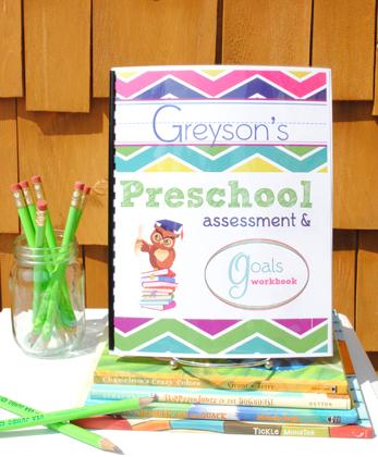 Preschool Assessment & Goals Workbook Image
