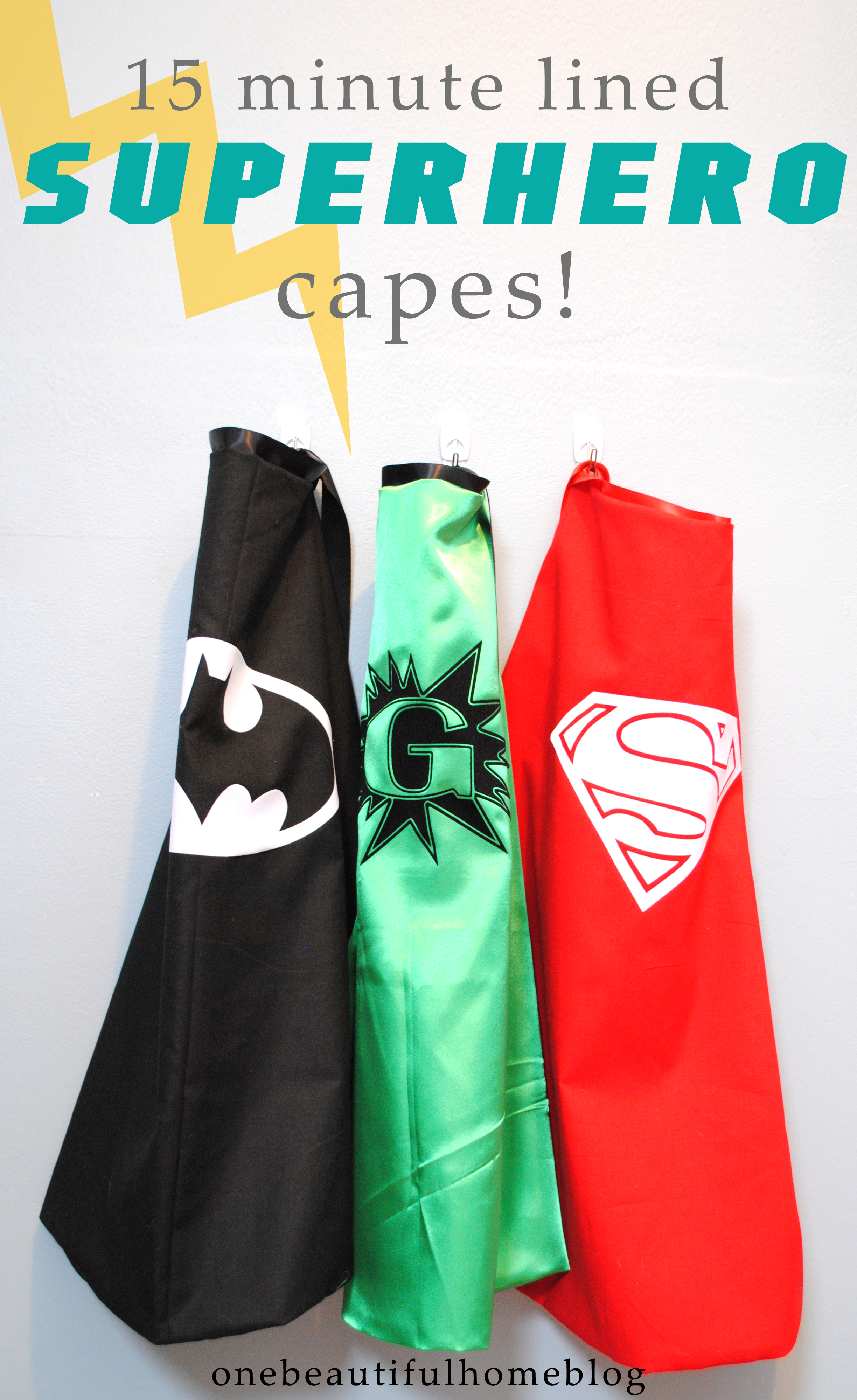 diy superhero cape template - 15 minute lined superhero capes plus the best sewing tip