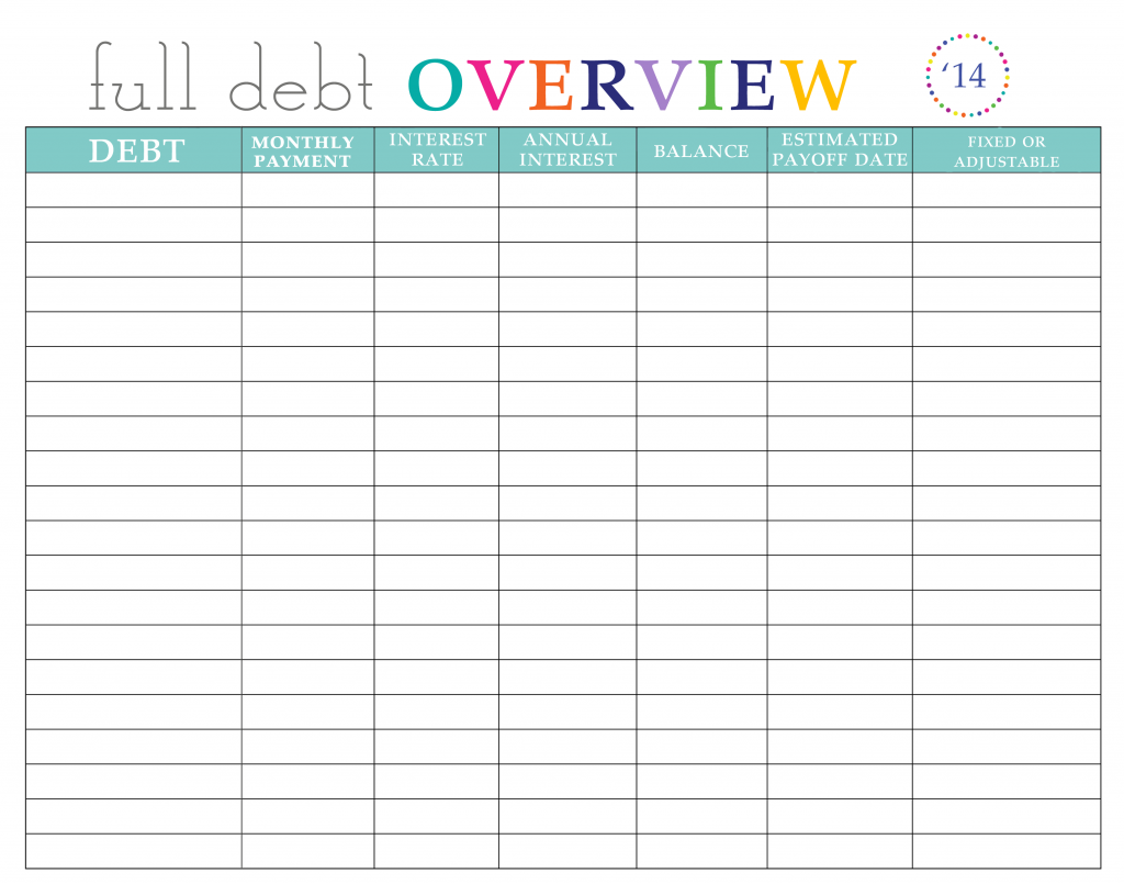 Credit Card Worksheet Excel Moreover Pay Off Debt Printable Worksheet ...