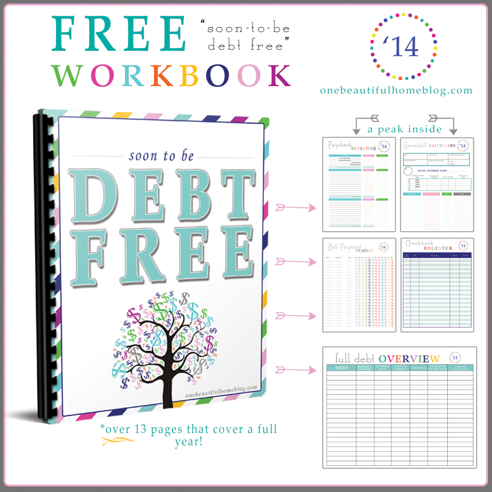 Worksheets Debt Worksheets paying off debt free workbook