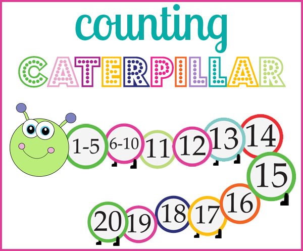 Create a counting caterpillar for your preschooler! -OneBeautifulHomeBlog