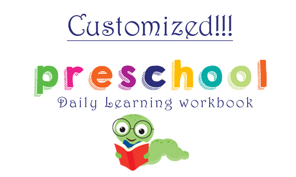 Customized Preschool- Daily Learning workbook!! From OneBeautifulHomeBlog