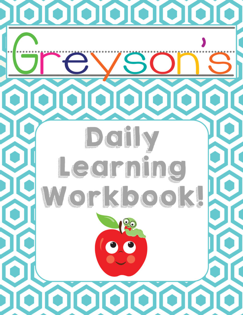 FREE Preschool Daily Learning Workbook. - from OneBeautifulHomeblog.com