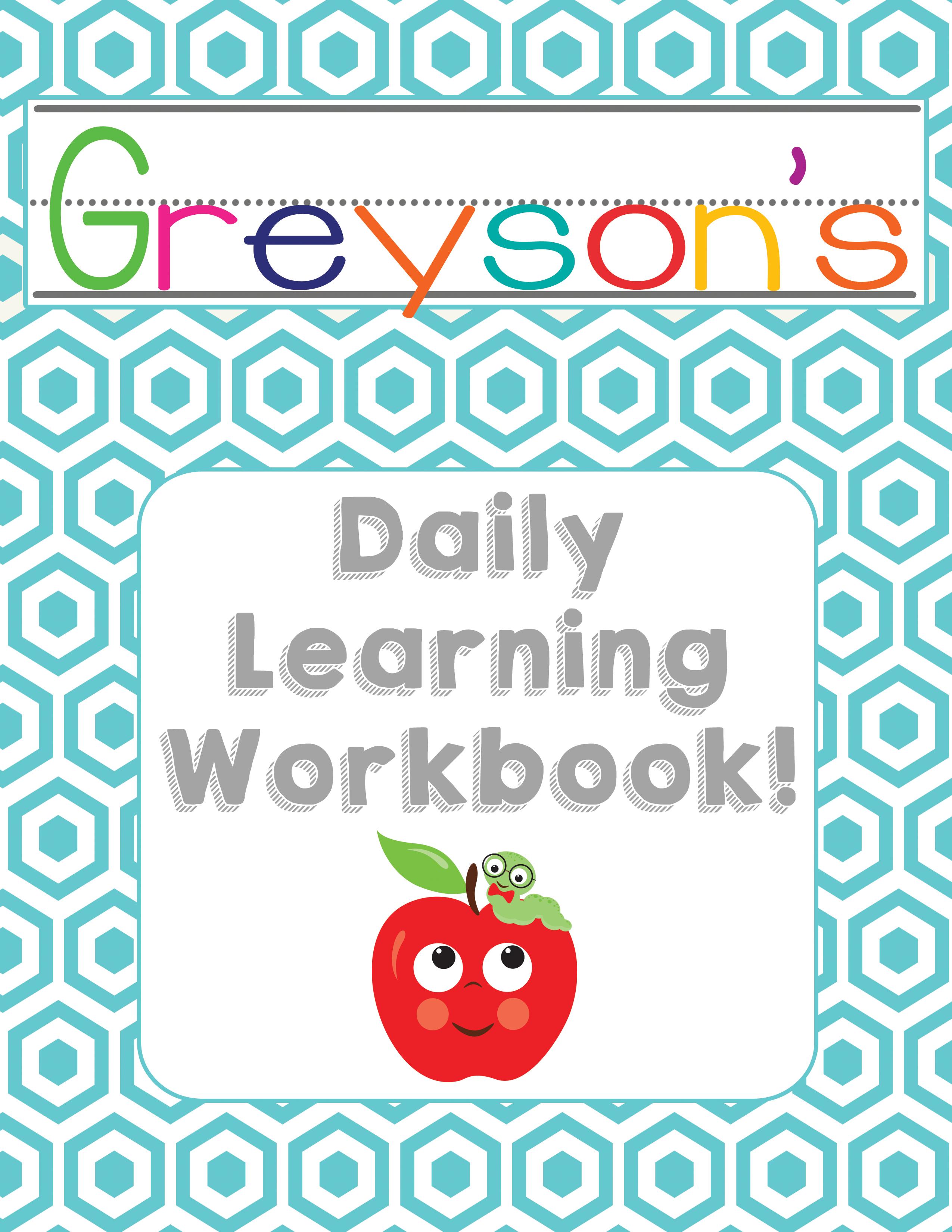 Customized Preschool Daily Learning Workbook » One Beautiful Home