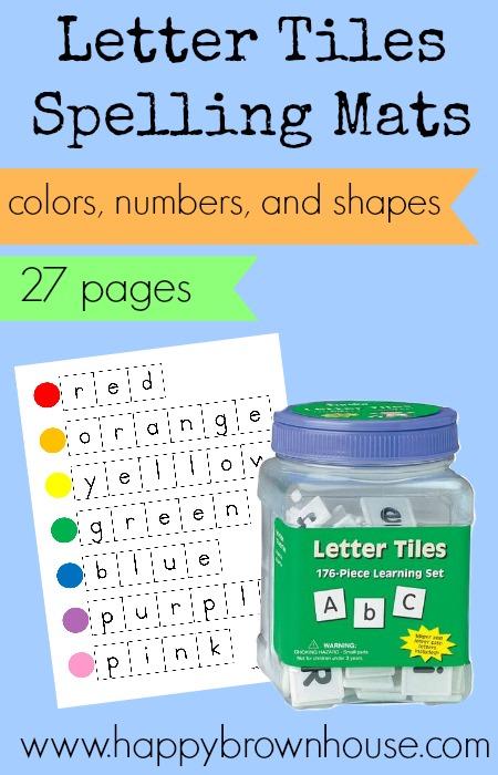 Letter Tiles Spelling Mats