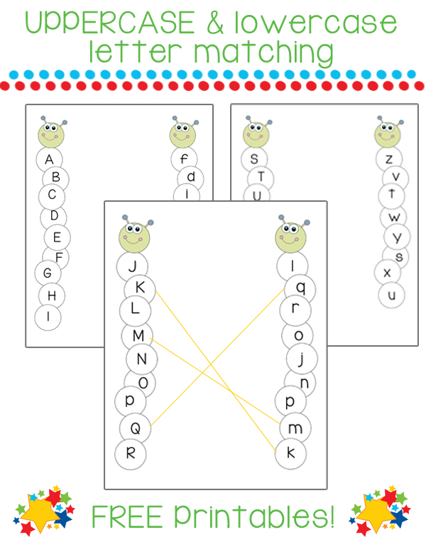 photo about Upper and Lowercase Letters Printable named Uppercase and Lowercase Letter Matching