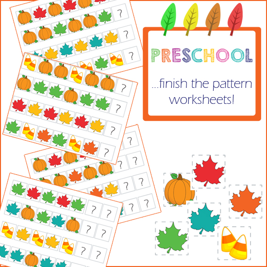 Preschool Activities - Finish the Pattern » One Beautiful Home