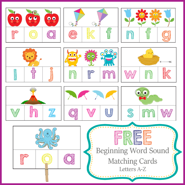 preschool activities letter sound card image