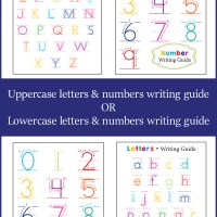 etters and Numbers Writing Guide. From Onebeautifulhomeblog.com