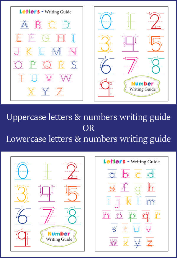 number of letters in alphabet preschool writing guides 23798 | Letters and Numbers Writing Guide1