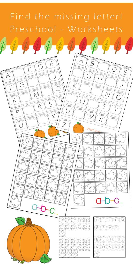 Preschool Alphabet Worksheets - Find the missing letter