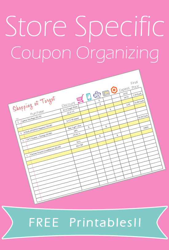 Coupon Organizing Printables