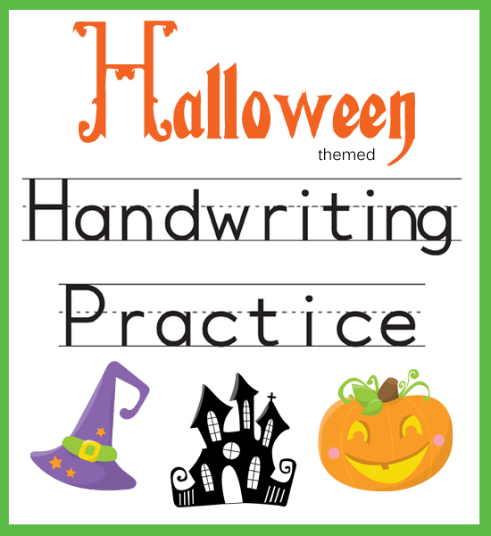 Handwriting Practice Halloween Themed