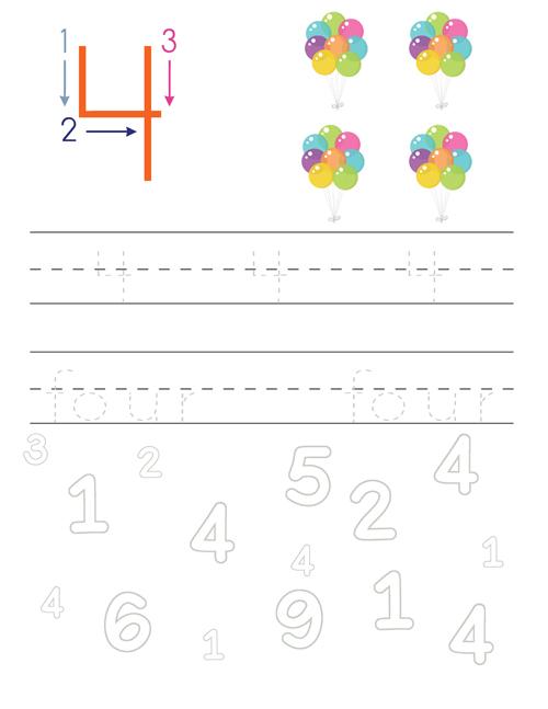 Handwriting Practice Number-4