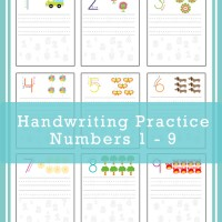 Handwriting Practice Numbers 1-9