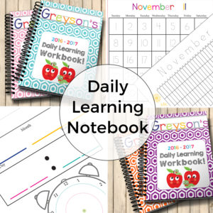 Preschool Daily Learning Workbook