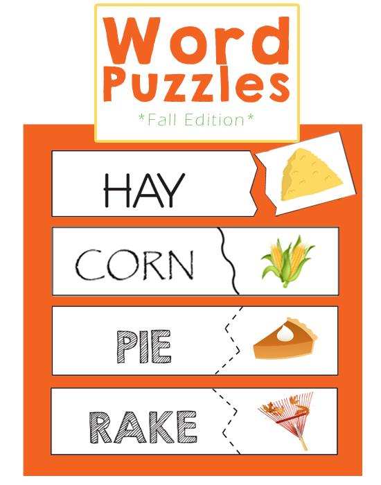 Preschool Games - Word Puzzles