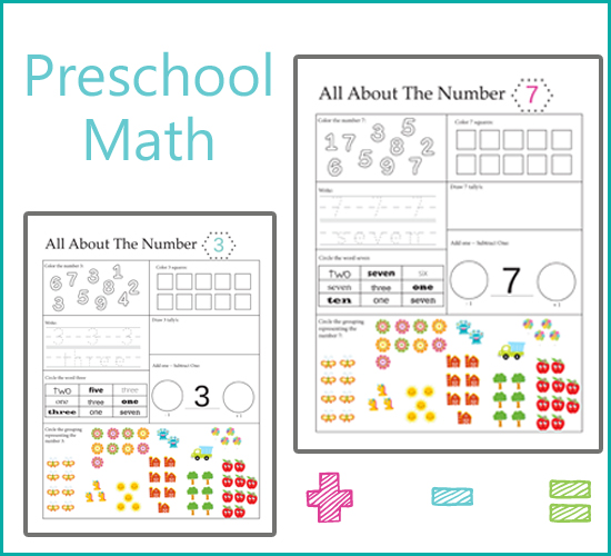Preschool Math - All About Numbers u00bb One Beautiful Home
