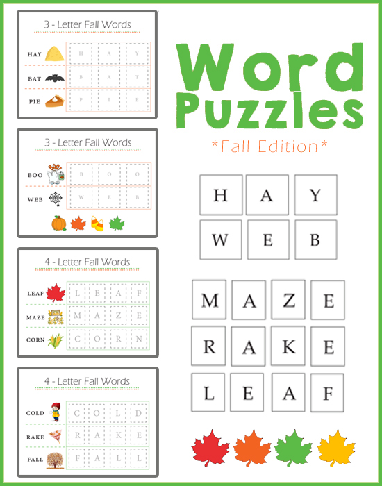 Preschool Worksheets - Spelling Fall / Autumn Words! » One ...