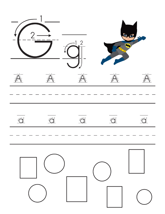 Superhero themed Handwriting Practice Pages