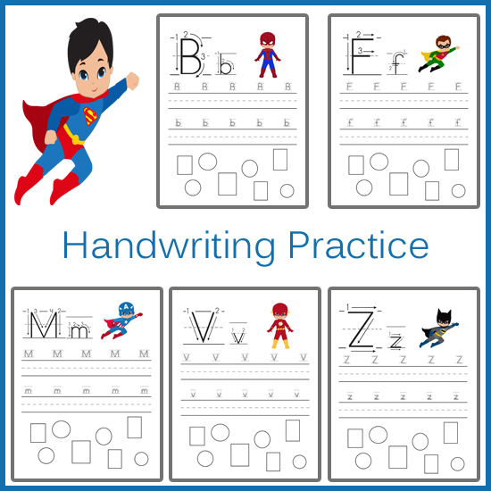 Handwriting Practice - Superhero » One Beautiful Home