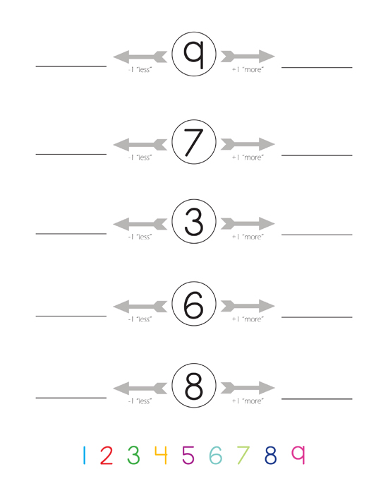 1 More 1 Less Worksheet - Delibertad