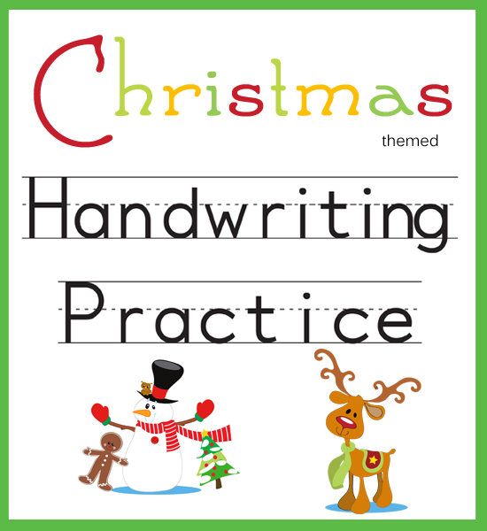 handwriting practice christmas themed one beautiful home. Black Bedroom Furniture Sets. Home Design Ideas