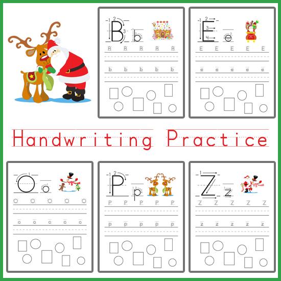 Handwriting Practice - Christmas Themed