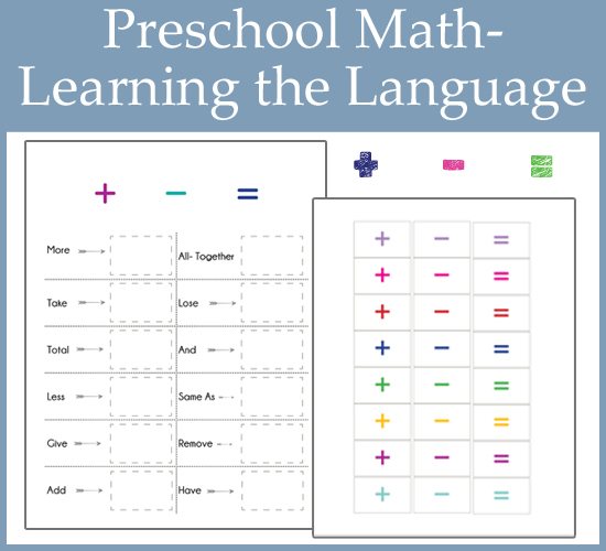 Preschool Math - Learning the Language