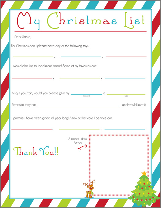Writing Letter To Santa. A Free Printable That Takes It Beyond Just Listing  Out Everything  Christmas List To Santa Template