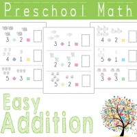 Preschool Math Easy Addition Worksheets