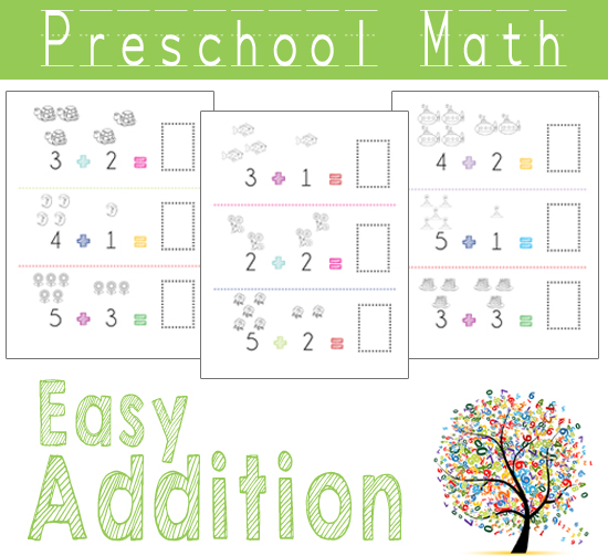 Kindergarten Easy Worksheets : Preschool math easy addition one beautiful home