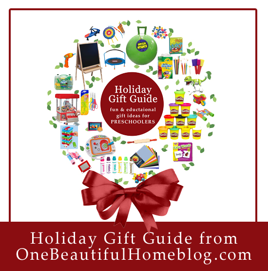 Holiday Gift Guide for Preschoolers. These are not just fun gifts but they also carry an educational aspect as well! Win-Win