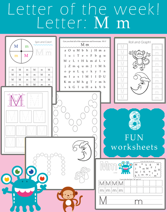 Letter Of The Week M One Beautiful Home. Letter Of The Week M. Preschool. Letter M Preschool Worksheets At Mspartners.co