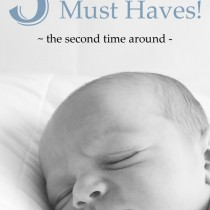 5 Newborn Must haves