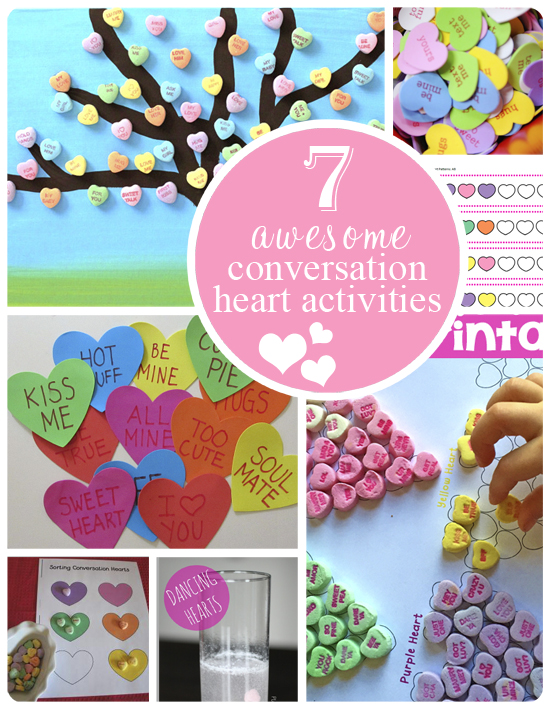 Looking for some Valentines Day activities to do with your little one? Make sure you check out these awesome Conversation Heart Activities!