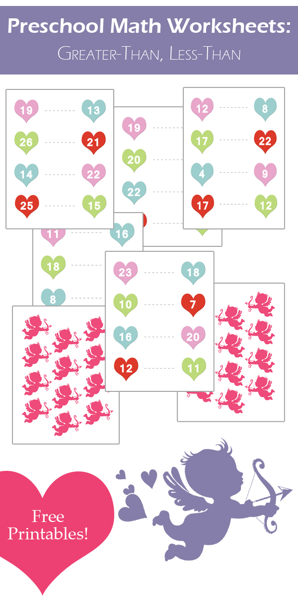 Valentines Day Math Worksheets GreaterThan LessThan – Math Less Than Greater Than Worksheets